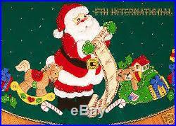 santa s list 43 felt tree skirt kit 84857 toys doll