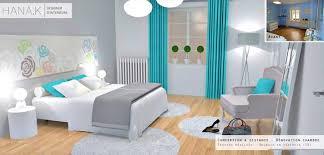 chambre blanche et emejing chambre turquoise et contemporary matkin info