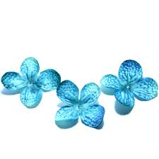 turquoise flowers 20 silk hydrangea blossoms in turquoise artificial flowers