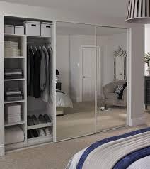 Mirrored Sliding Doors Closet Mirrored Wardrobe With Sliding Door Closet Also Panel Door Mirror