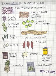thanksgiving shopping list daring hue