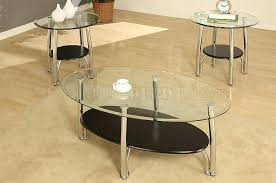 glass end table set 3 piece glass coffee table sets living room set contemporary with