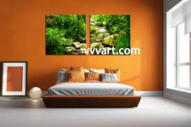 Nature Bedroom by 2 Piece Green Nature Ocean Wall Art