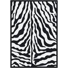 Zebra Dining Room Chairs Animal Print White Rugs Wayfair Black Zebra Glam Ink Area Rug