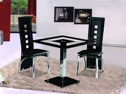 picturesque small square black glass dining table with 2 chairs homegenies on