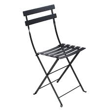 Black Metal Bistro Chairs Fermob Folding Metal Bistro Chair 28 Vibrant Colours Free Shipping
