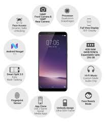 Vivo V7 Vivo V7 Plus 64gb 4gb Ram 20mp Front Mobile Phones