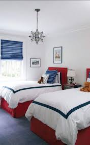 Red White And Blue Bedroom Ideas Twins Room Ideas And Designs