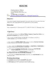 Electrician Resume Examples by Electrician Resume Sample Free Resume Templates