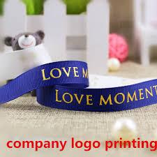 custom ribbon printing company custom gild logo grosgrain ribbon wedding birthday