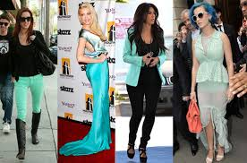 mint and hottest colors for shoes and accessories