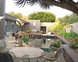 vintage patio furniture courtyard patio idea in orange county
