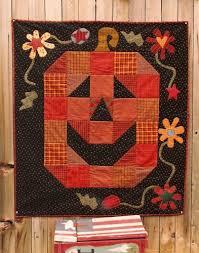Memes Quilts - smiling pumpkin quilt pattern at memes quilts halloween quilts