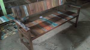 Reclaimed Boat Wood Furniture Recycled Boat Wood Bench 6289522617244 Cafe Resto Interior