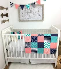 Navy Crib Bedding Coral Colored Quilts Blue Coral Quilts Navy Floral Crib Bedding