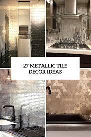 Kitchen Wall Tile Ideas Metallic Kitchen Wall Tiles With Metal Tile Backsplashes Hgtv And