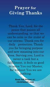 prayer giving thanks