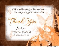 bridal shower thank you notes copper butterflies bridal shower cards orange invitation