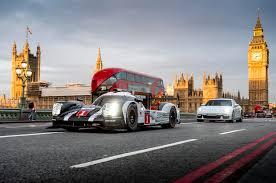 porsche 919 hybrid video porsche 919 hybrid racing car performs london street demo