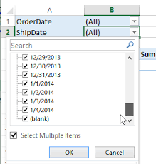 How To Remove Pivot Table Excel Pivot Table Date Filters