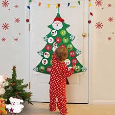 christmas calendar aytai felt christmas tree advent calendar for kids countdown to