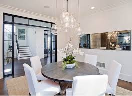 No Chandelier In Dining Room Modern Transitional Dining Room Chandeliers Delectable Inspiration