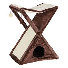 Trixie Cat Hammock by Trixie Brown Beige Miguel Fold And Store Cat Tower 44770 The