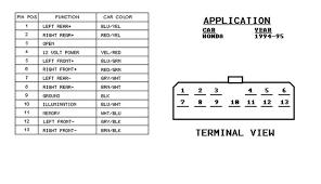 honda del sol stereo wiring diagram honda wiring diagrams for