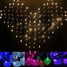 heart shaped christmas lights led heart shape curtain light indoor party christmas string fairy