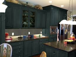 What Color To Paint Kitchen Cabinets With Black Appliances Color Paint Kitchen Cherry Wood Cabinets Gray Painting
