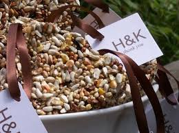 bird seed wedding favors unique cheap favors not food