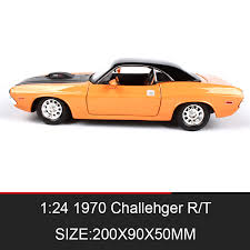 collectible model cars aliexpress com buy 1 24 model car 1970 challenger rt metal