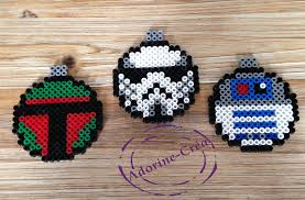 star wars christmas baubles hama perler beads by adorine crea