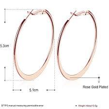 gold plated earrings for sensitive ears 2 stainless steel 18k gold plated hoop earrings for womens