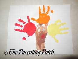 thanksgiving turkey handprint footprint craft parenting patch
