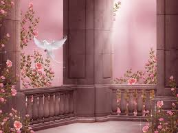 rose garden columns pigeon dove roses flowers rose garden column