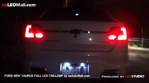Full Led Tail Lamp For Ford New Taurus By Exledshop Com Youtube