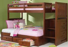 Bunk Bed Stairs With Drawers Merlot Mission Staircase Bunk Bed With