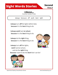 free reading comprehension worksheets for 1st grade free