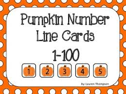 Flashcards Numbers 1 100 Pumpkin Number Line Cards 1 100 By Mrs Thompson U0027s Treasures Tpt