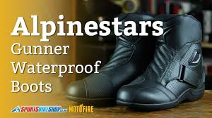 budget motorcycle boots alpinestars gunner waterproof boots review youtube