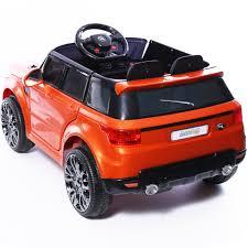 orange range rover sport mini hse range rover style electric 12v child u0027s ride on jeep