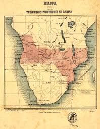 Angola Map Pink Map Territorial Claims By Portugal In Africa In Order To