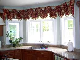 Kitchen Window Coverings Ideas Modren Kitchen Bay Window Curtains Styles Ideas Home Design