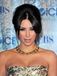 bridal hairstyle magazine center part bridal hair pinterest kim kardashian kim