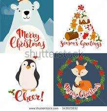 merry christmas vector cards funny christmas stock vector