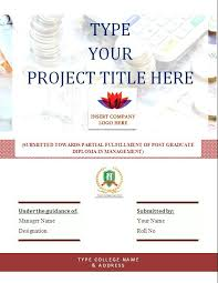cover page of report template in word ms word project report business templates balance sheet templates