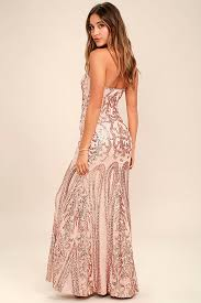 bariano dresses bariano gold strapless sequin maxi dress sequin