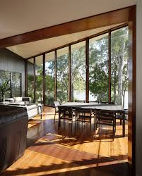 architecture great river home interior wooden windows frame with