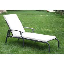outsunny 84b 039 adjustable chaise lounge patio chair cream white